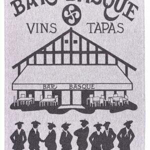 Torchon jacquard Bar Basque