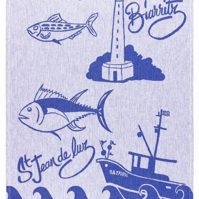 Torchon jacquard Biarritz
